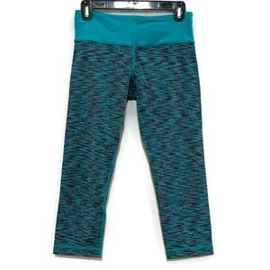 LULULEMON Wunder Under Crops Teal Zeal Space Dye